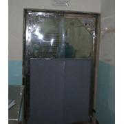Дверь распашная из ПВХ антиударная Н/Ж фото