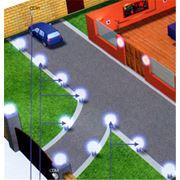 Освещение площадки перед домом фото
