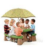 Столик для игр Пикник с зонтом фото