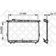 Радиатор системы охлаждения АКПП\ Hyundai Sonata III/IV 2.0/2.4/2.5 98> фото
