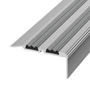 ЛУКА Порог угловой ПУ 07-1800-01л серебро анодир-е (1,8м) с ПВХ-вставкой 30,8х68мм фото