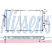 Радиатор системы охлаждения без AC\ Audi 100 1.9-2.2/2.0D 80-90 фото