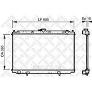 Радиатор системы охлаждения\ Nissan Primera 1.6/2.0 16V 96> фото
