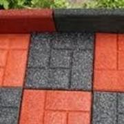 Тротуарная плитка из резиновой крошки, Плитки из резиновой крошки фото