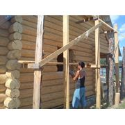 Отделка деревянных домов и бань фото