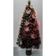 Искусственная новогодняя елка с сияющими снежинками 90 см фото
