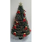 Искусственная елка новогодняя Световод украшенная колокольчиками 150 см фото