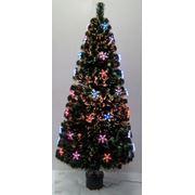 Искусственная елка новогодняя Искра со светящимися звездами 210 см фото