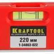 Уровень KRAFTOOL DIRECTOR LEVEL с магнитом, 3 ампулы, 220мм. Артикул: 1-34863-022 фото