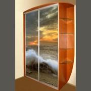 Шкаф-купе с фотопечтью с морскими волнами