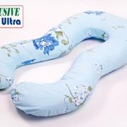 """Подушка для беременных Ultra Exclusive """"Голубая с цветами"""" фото"""
