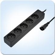"""Special Base 0,5m\b SVEN сетевой фильтр, 0,5м., 2200 Вт, Тип F """"Schuko"""" (5 шт.), Чёрный фото"""