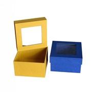 """Коробка """"Крышка-дно"""" с окном фото"""