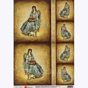 Декупажная карта Портрет леди фото