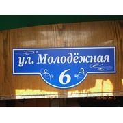 Табличка Наименование улицы и номер дома 50см*20см фото
