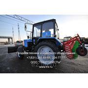 Трактор МТЗ-82.1 c коммунальным отвалом и щеткой