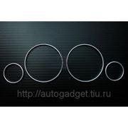 Кольца в приборную панель BMW E38/E39/X5 аллюминий (серебро) фото