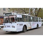 Реклама на троллейбусах в Барнауле фото