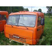 Кабина КАМАЗ 54105 со спальным местом, высокая крыша цвет оранжевый