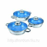 MAvis omelette set, набор омлетниц 3 пр.: омлетница 0,75 л., омлетница 0,9 л., омлетница 1,25 л., ст (676959) фото