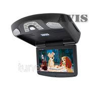 """Автомобильный монитор на потолок 11"""" со встроенным DVD плеером и потолочным креплением AVIS AVS1118T (черный) фото"""