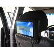 """Монитор навесной на подголовник с диагональю 9"""" и встроенным DVD плеером (черный) фото"""