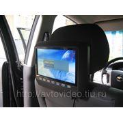 """Монитор навесной на подголовник с диагональю 9"""" и встроенным DVD плеером (серый) фото"""