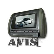 """Подголовник со встроенным LCD монитором 7"""" AVIS AVS0712BM (серый, с серой лицевой панелью) фото"""