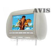 "Подголовник со встроенным DVD плеером и LCD монитором 8"" AVIS AVS0811T (серый) фото"