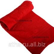 Простынь махровая, без бордюра (Красный) фото