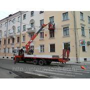 Автовышки телескопические 23м./2чел./400кг фото