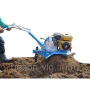 Вспашка почвы мотоблоком фото