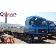 Бортовой автомобиль МАЗ-6312В9-420-015 с бортовым прицепом МАЗ-837810-042 фото