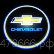 Проектор (подсветка) в дверь с логотипом Chevrolet фото
