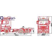 тягач маз с двигателем мерседес на пневматической подвеске колесная формула 6х4 МАЗ-643019-1420-020 фото