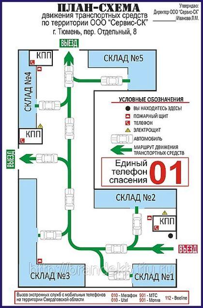План схема движения