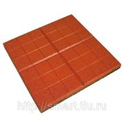Резиновая плитка «Сетка» 350х350мм толщина 30мм фото