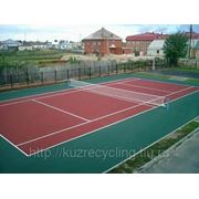 Покрытие из резиновой крошки для спортивных площадок, теннисных кортов, стадионов, беговых дорожек фото
