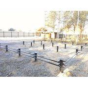 Фундамент - свайный винтовой, ограждения, ворота (металлоконструкции) фото