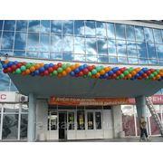 Оформление фасадов воздушными шарами фото