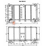 Бак для воды прямоугольный БВ-10 Серия 07.900-2 фото