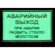 """Вспомогательный знак """"АВАРИЙНЫЙ ВЫХОД"""" фото"""