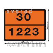 Таблички оранжевого цвета светоотражающие оцинкованные фото