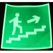 Е15 Направление к эвакуационному выходу по лестнице вверх фото