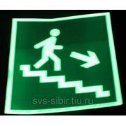 Е13 Направление к эвакуационному выходу по лестнице вниз фото