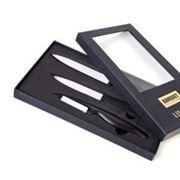 Набор кухонный из 2-х керамических ножей и овощечистки фото
