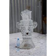 Зимний подарок: ледяной самовар как морозильник для горячительных напитков! фото