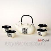 Набор для чая японские мотивы 5 пр.700 мл (чайник+4 кружки) (839459) фото