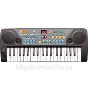 Пианино mq-004fm с микрофоном и радио, на батарейках, в коробке 42,8*16,8*5,5см (833444) фото