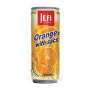 """Фруктовый напиток в банках с кусочками фруктов """"JEFI"""" с апельсином, 240 мл, Малайзия фото"""